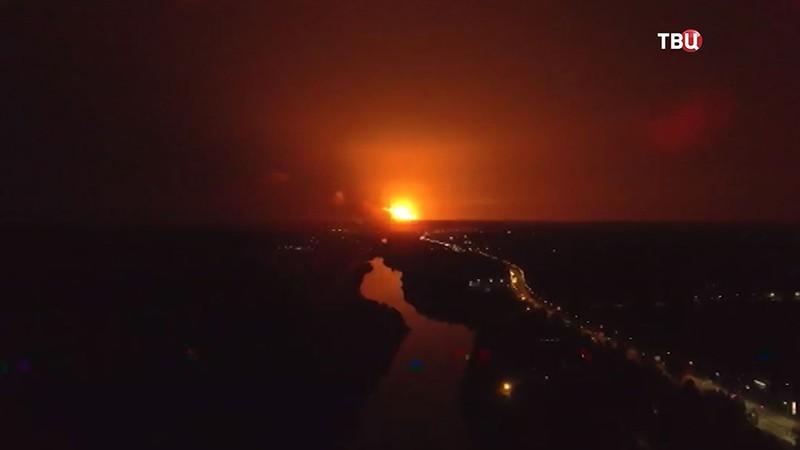 Пожар на военном складе под Винницей