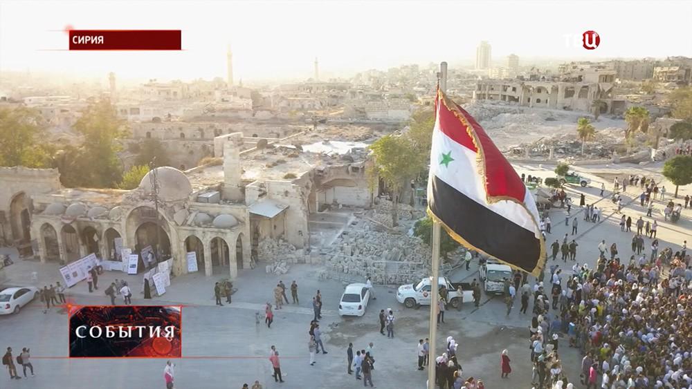 Крытый рынок в Алеппо возобновил работу