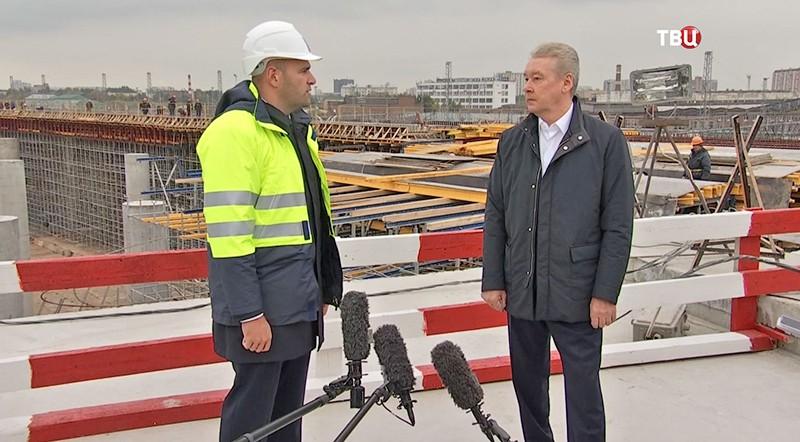 Сергей Собянин осмотривает ход строительства участка Северо-Восточной хорды