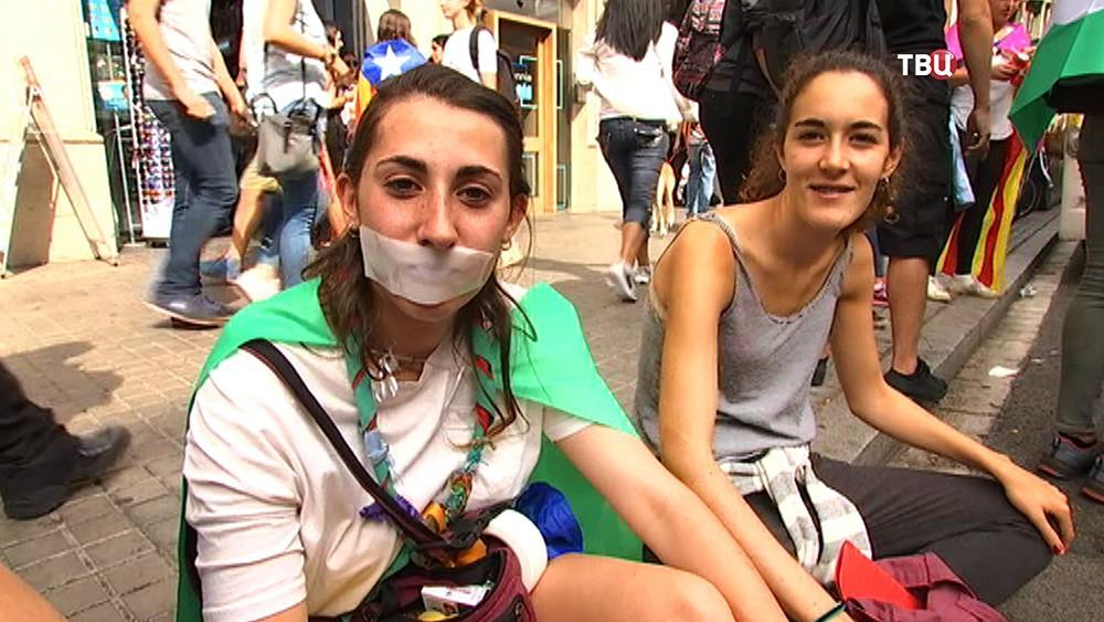 Уличные протесты в Каталонии