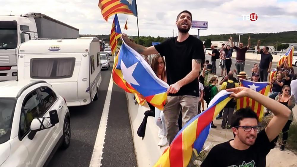 Забастовка в Каталонии