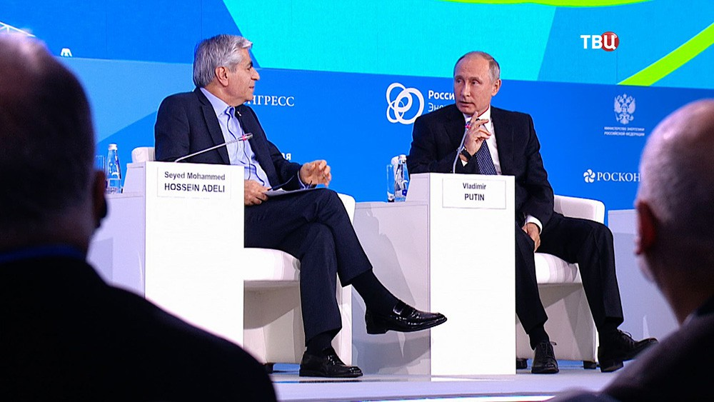 Президент России Владимир Путин на заседании Международного форума по энергоэффективности