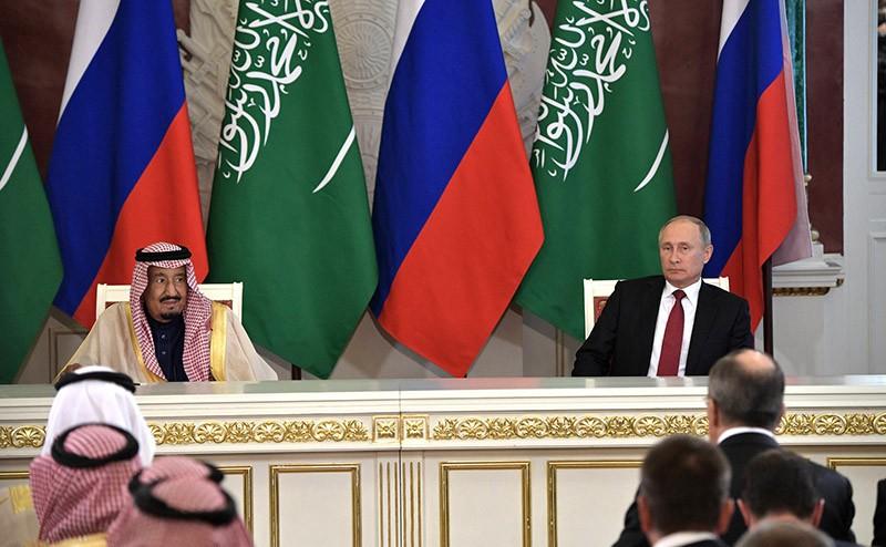 Переговоры Владимира Путина с Королём Саудовской Аравии Сальманом Бен Абдель Азизом Аль Саудом