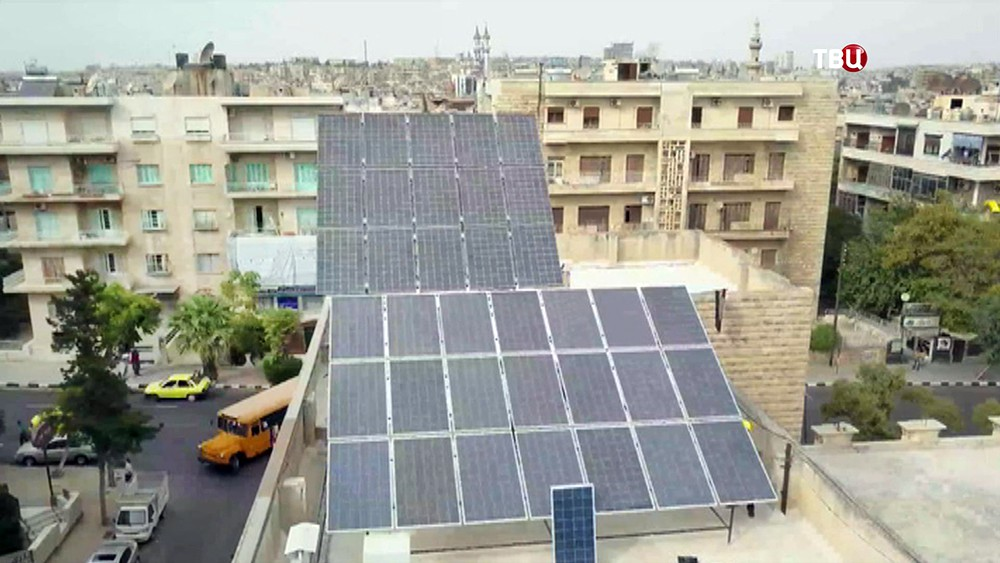 Солнечные батареи в Сирии