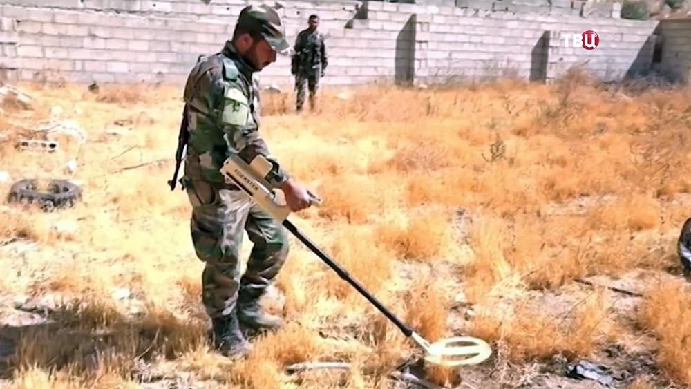 Сирийские саперы при разминировании Алеппо обнаружили итальянские мины