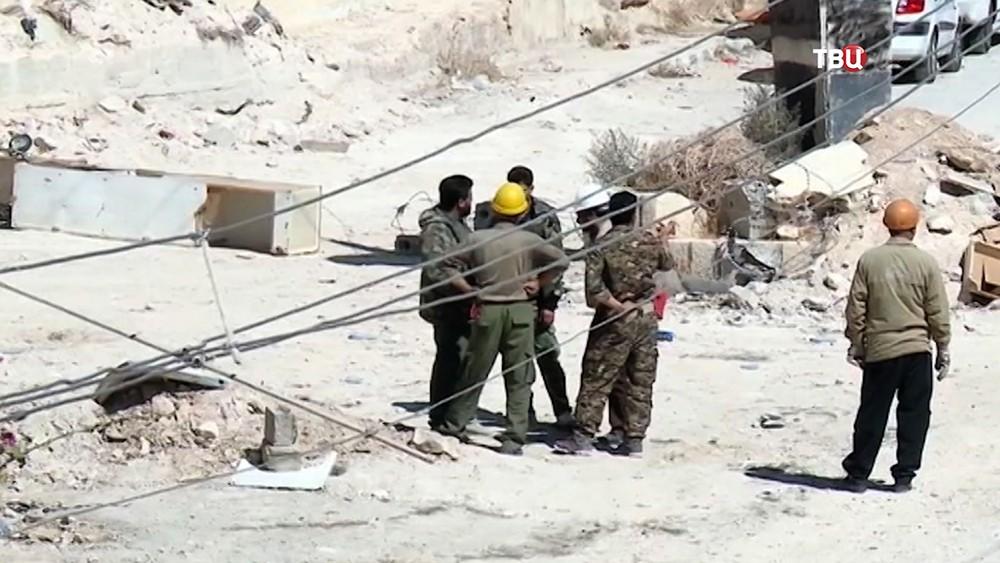 Строители в Сирии