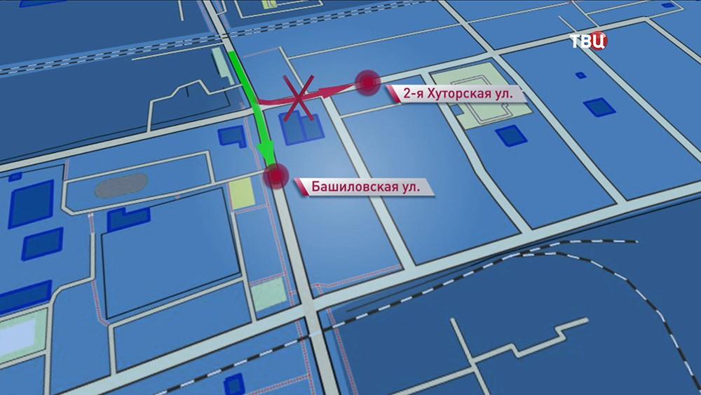 Изменение схемы движения транспорта на севере Москвы