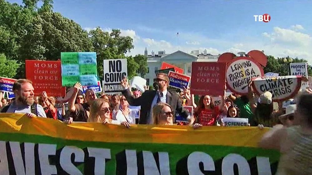 """Митинг """"зелёных"""" у Белого дома в США"""