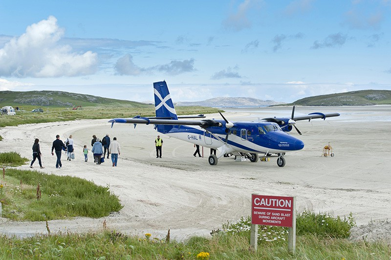 Аэропорт Барра, Шотландия