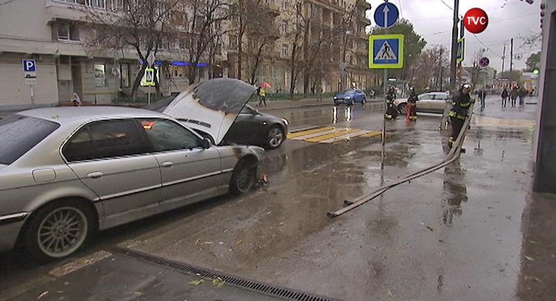 Пожар на Новокузнецкой улице