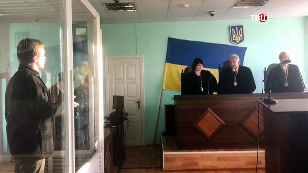 Украинские журналисты Дмитрий Васильц и Евгений Тимонин в суде