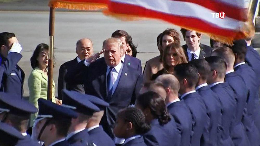 Президент США Дональд Трамп прибыл в Японию