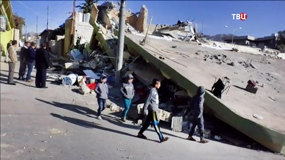 Последствия землетрясения в Иране