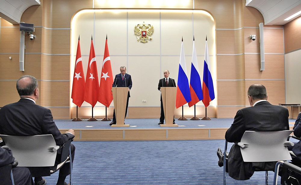 Президент России Владимир Путин и президент Турции Реджеп Эрдоган