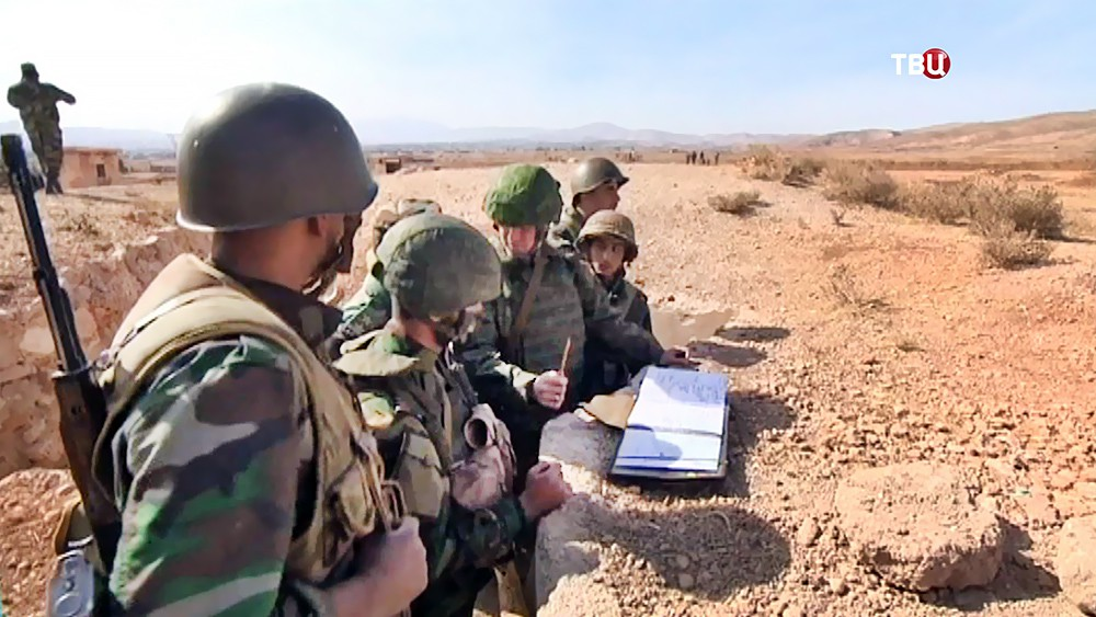 Российские инструкторы и бойцы армии Сирии
