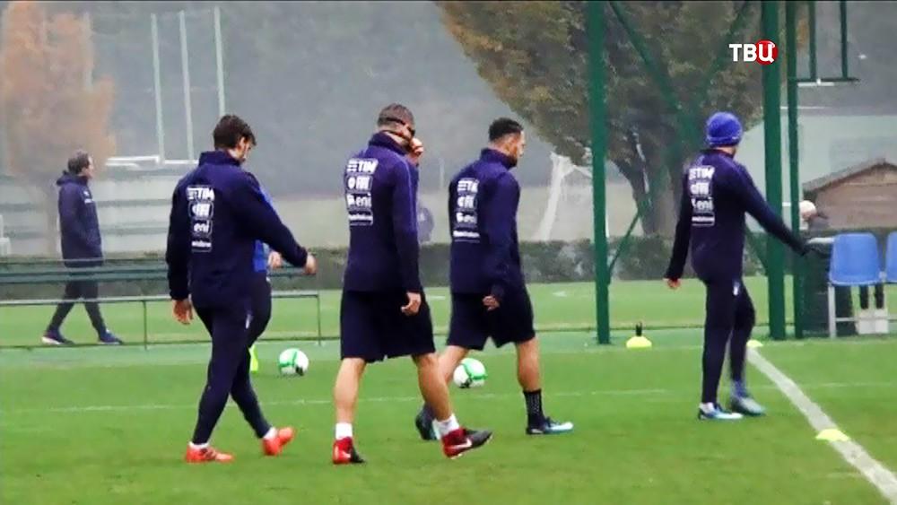 Тренировка сборной Италии по футболц
