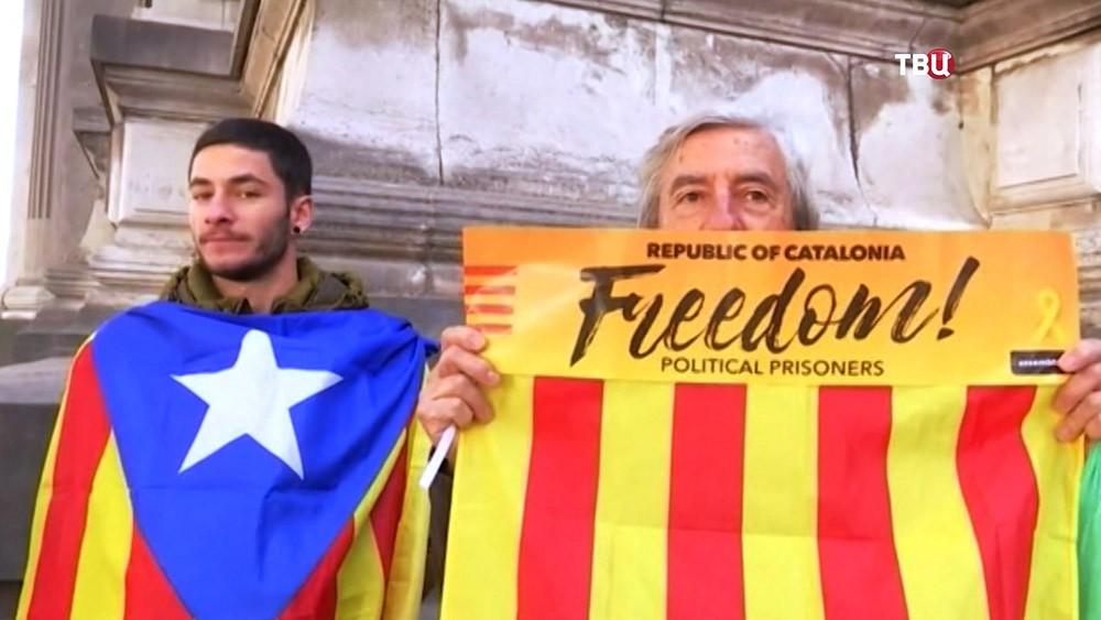 Митинг против политзаключенных Каталонии