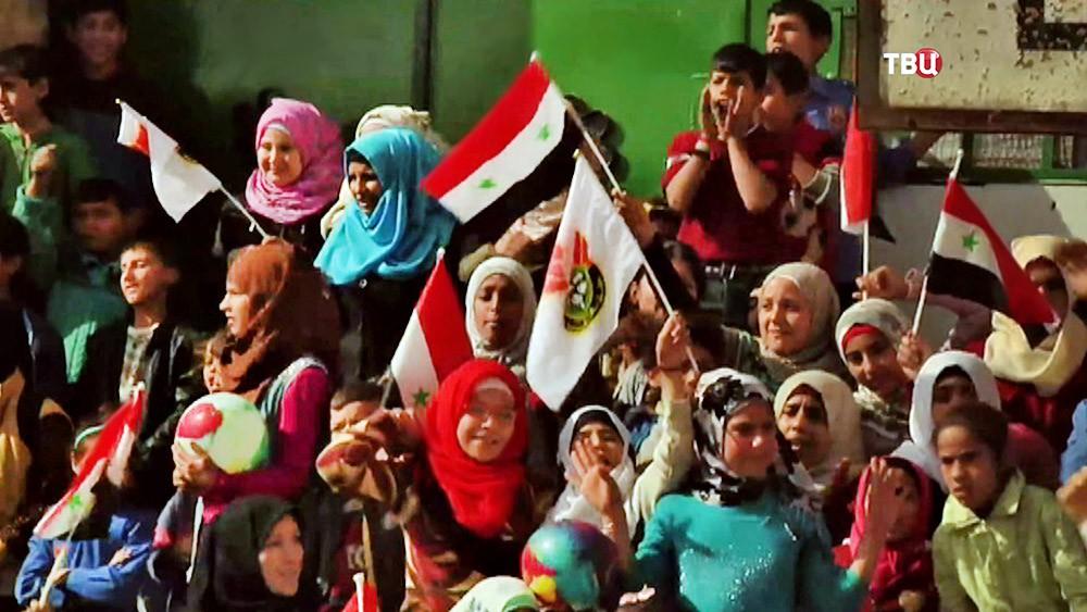 Болельщики на соревнованиях в Сирии