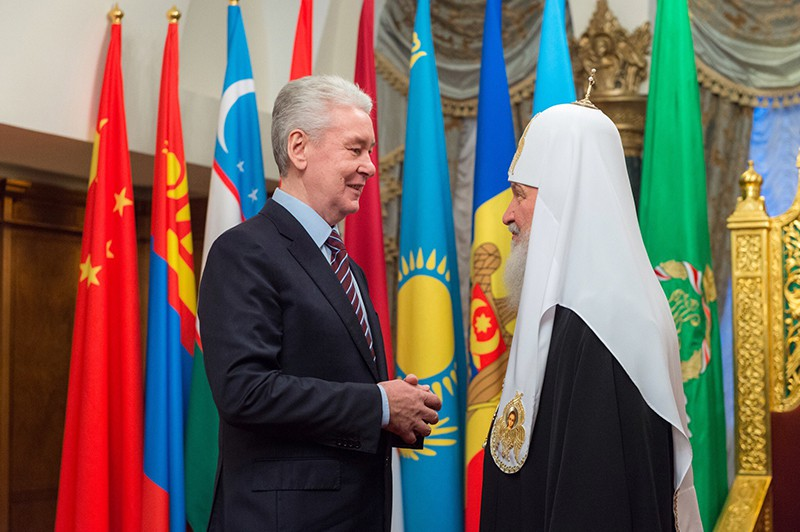 Сергей Собянин и Патриарх Кирилл