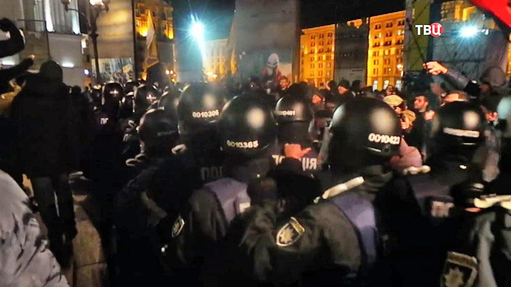 Полиция Украины предотвращает уличные беспорядки