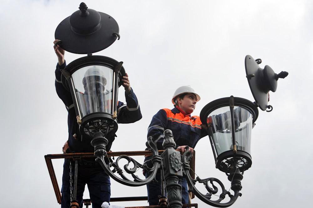 Установка новых фонарей
