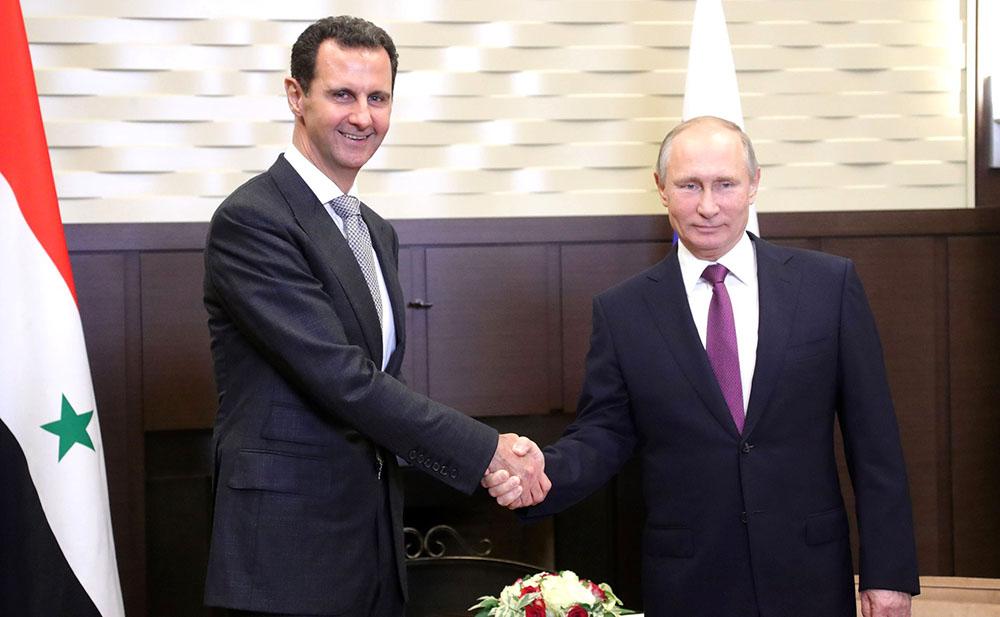 Владимир Путин и Башар Асад