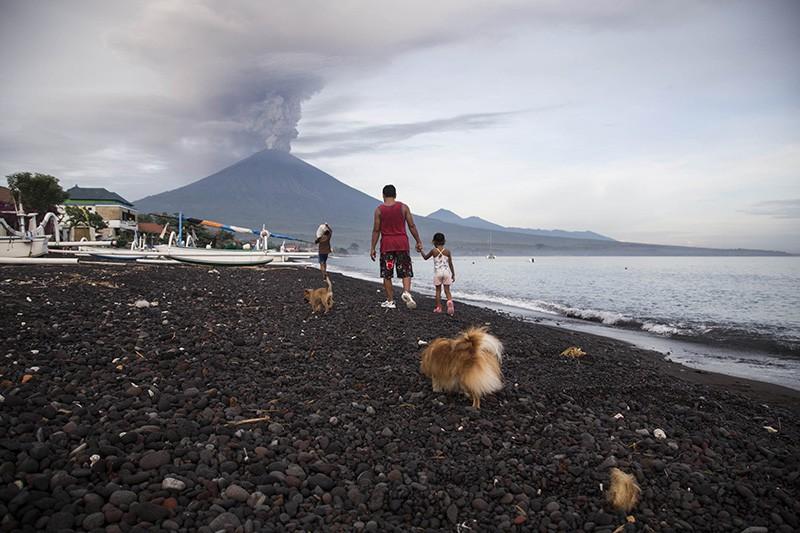 Извержение вулкана Агунг на Бали