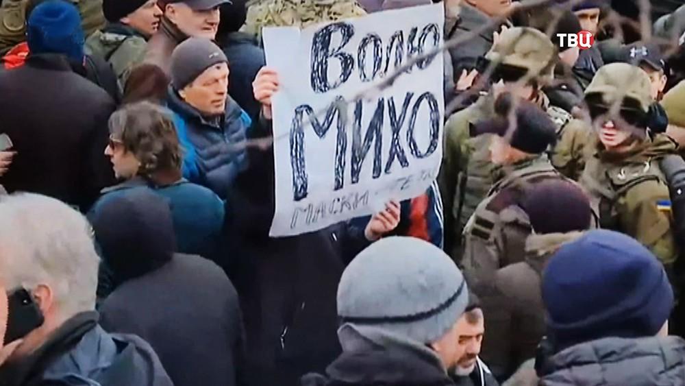 Протесты против ареста Михаила Саакашвили