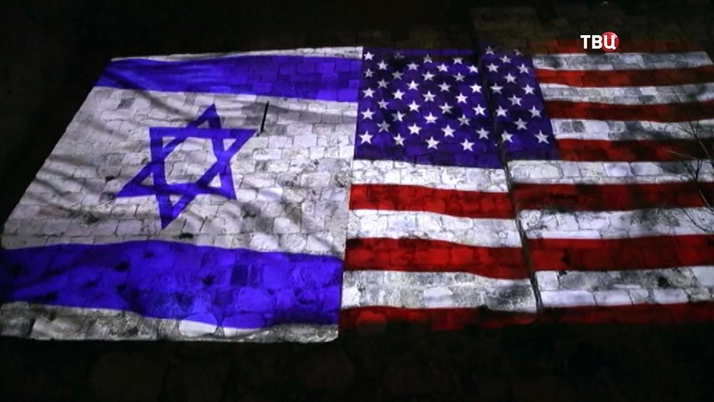 Флаги США и Израеля