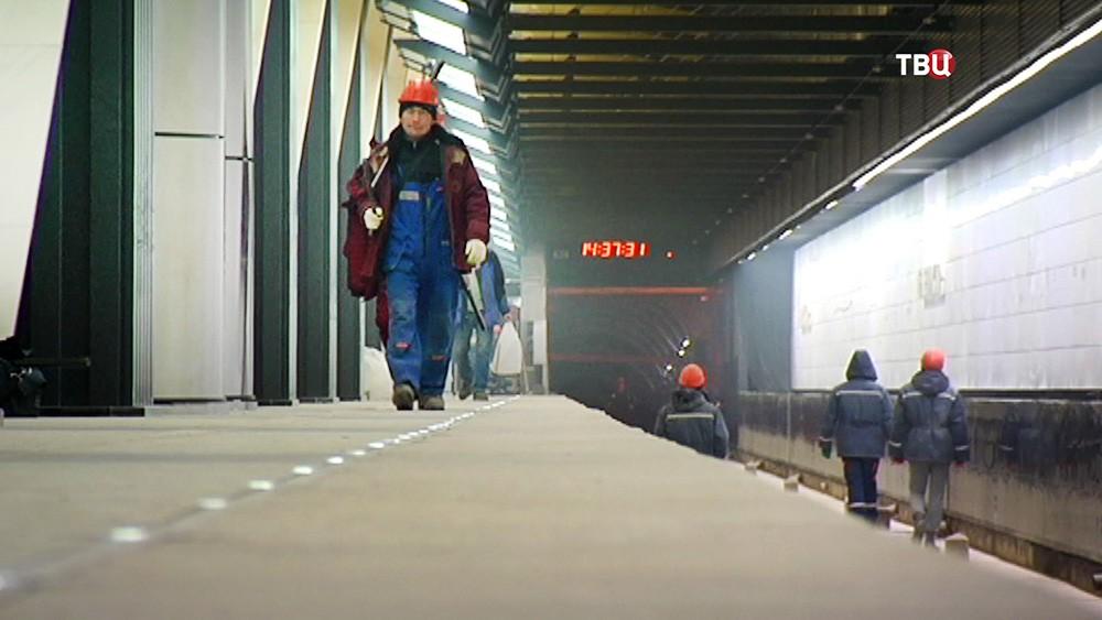 Отделка станции метро