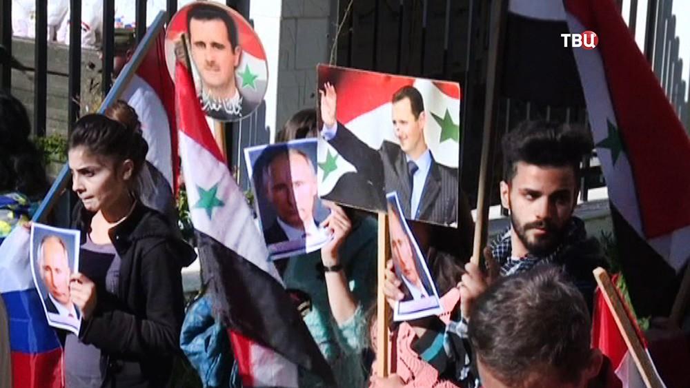 Праздничный митинг в Сирии