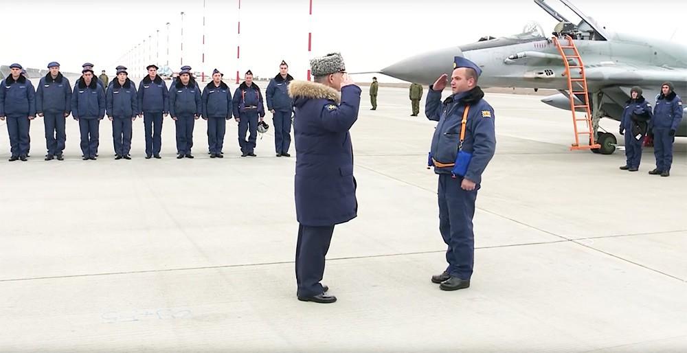 Возвращение экипажей истребителей МиГ-29СМТ выполнявших операции в Сирии