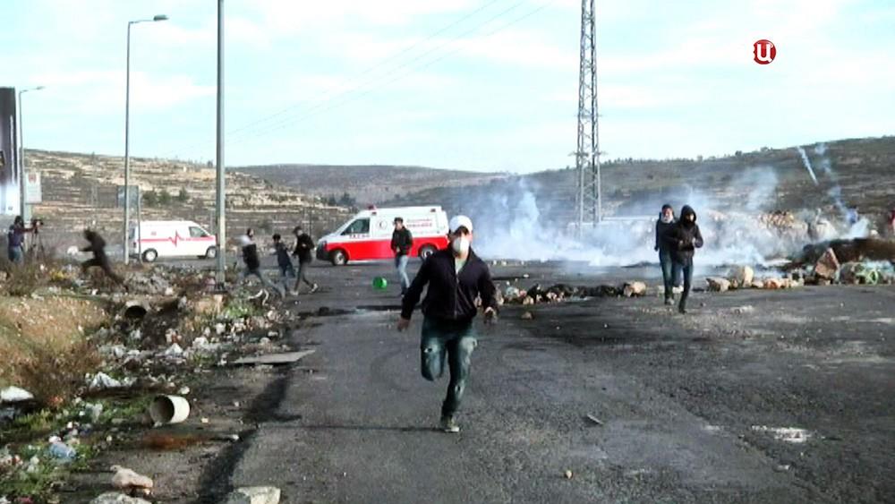 Протестующие в секторе Газа