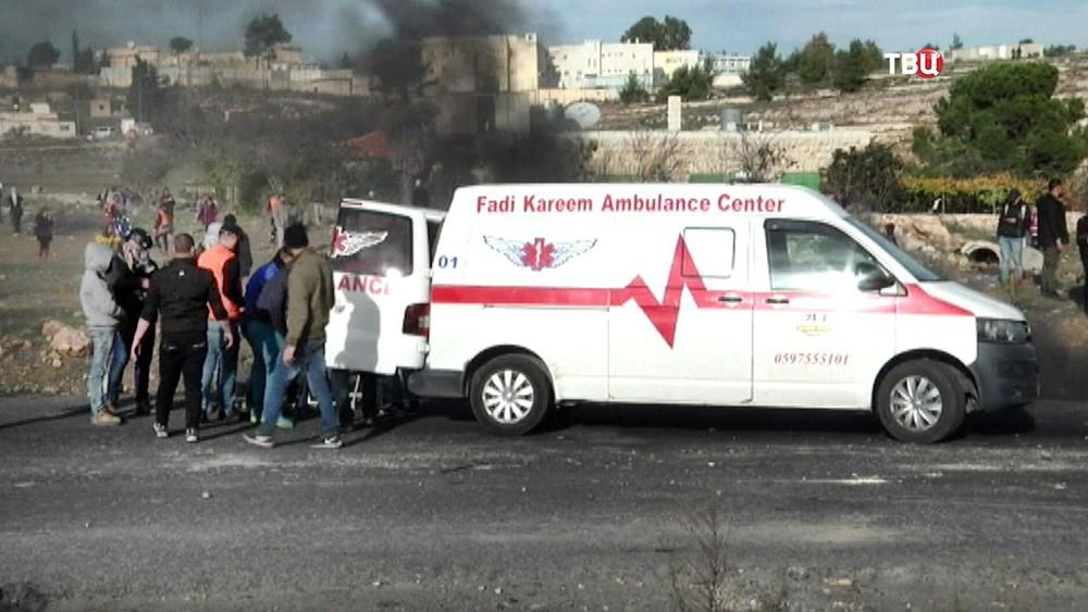 Скорая помощь в секторе Газа