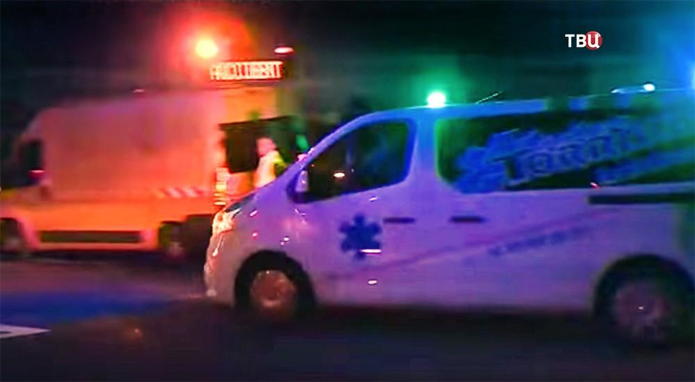 Скорая помощь Франции на месте происшествия