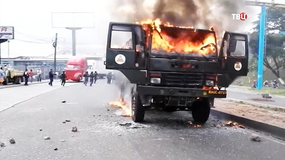 Беспорядки в Гондурасе