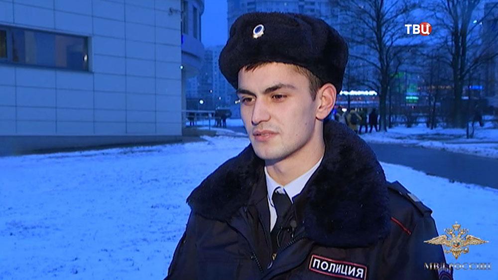 Сержант полиции Алексей Шарапов, спасший мужчину в метро