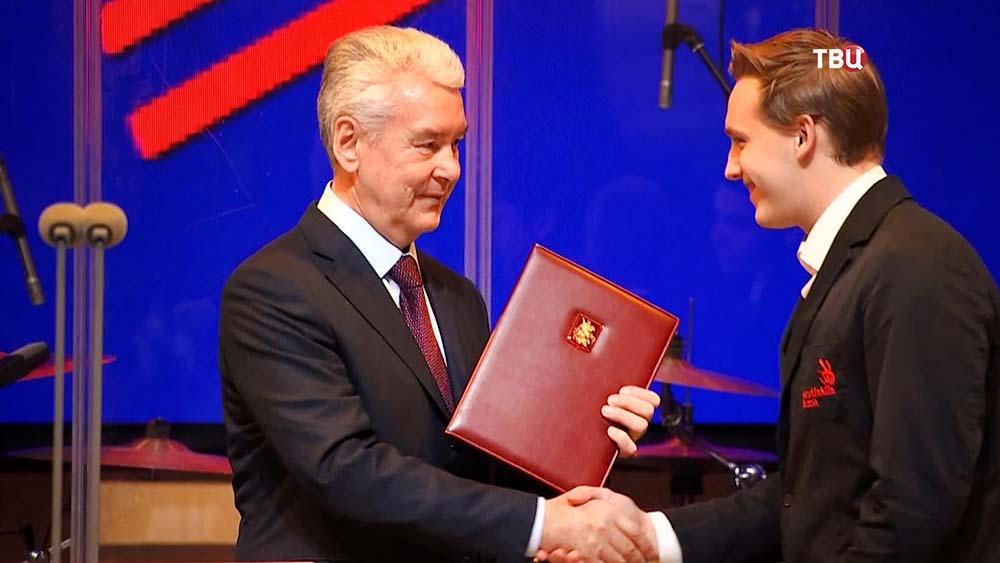 Мэр Москвы Сергей Собянин на церемонии награждения победителей чемпионата WorldSkills