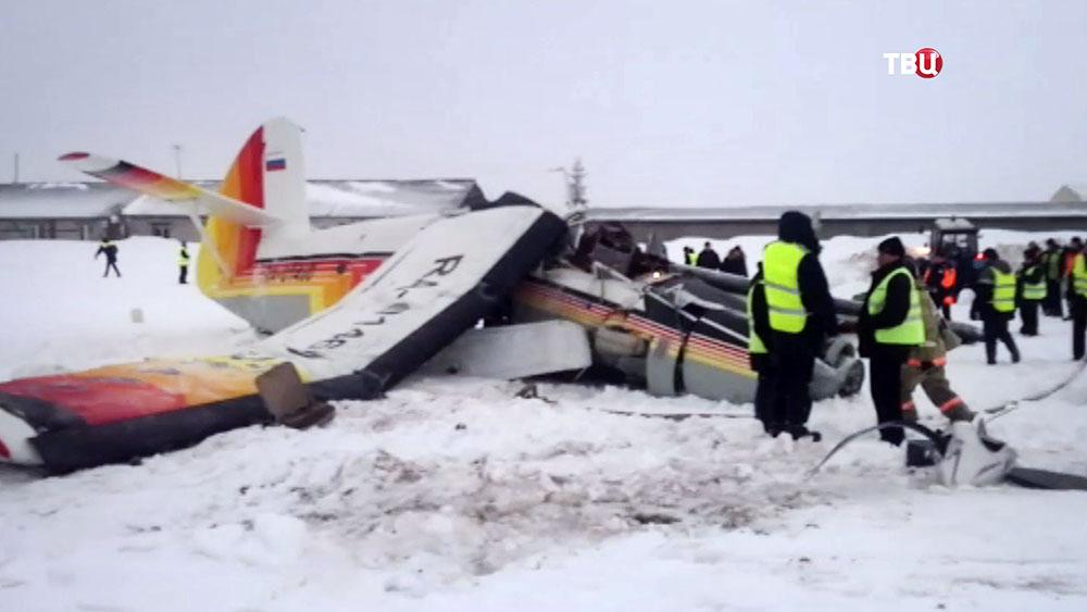 На месте падения самолета Ан-2
