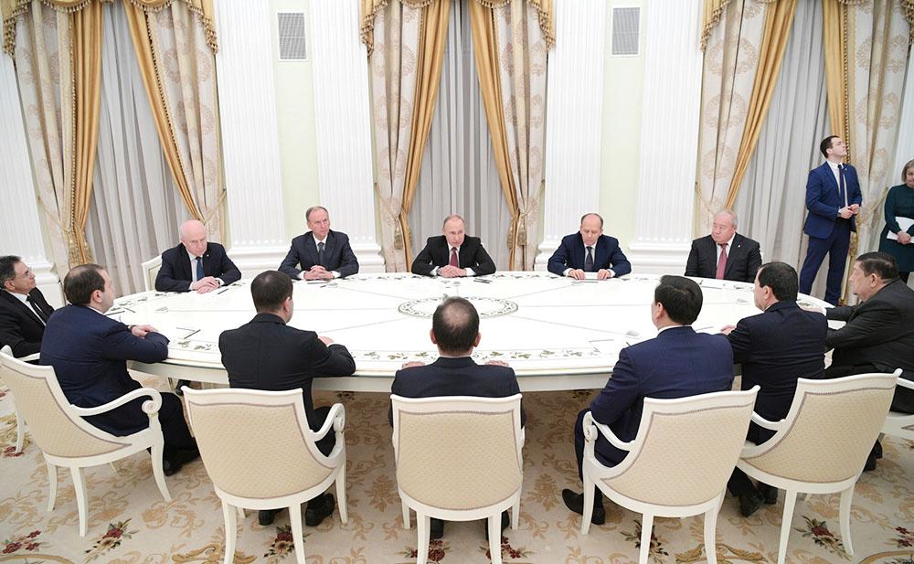 Президент России.Владимир Путин и руководители органов безопасности и спецслужб стран СНГ