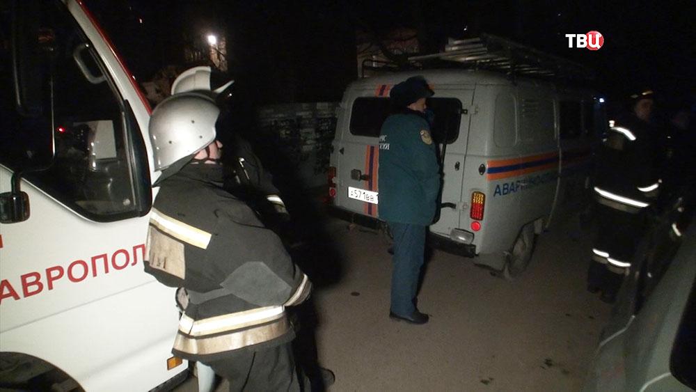 На месте взрыва гранаты в Ставрополе
