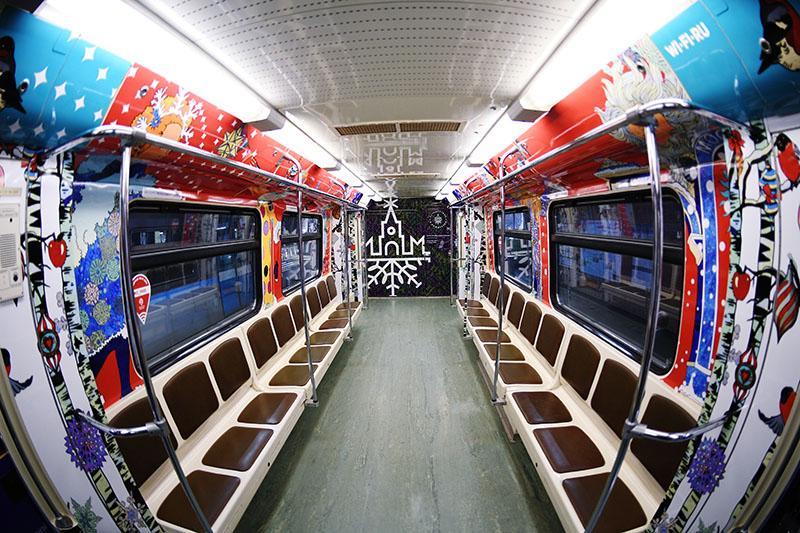 Рождественский поезд запущен вмосковском метро