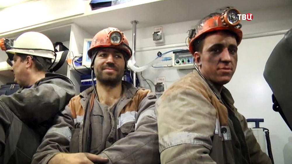 Спасенные шахтеры