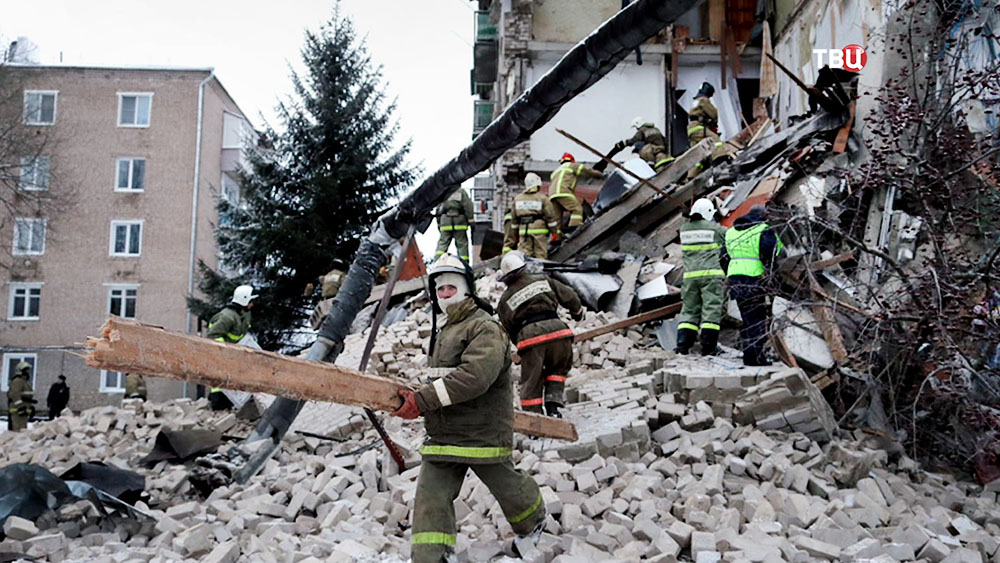 Обрушение дома в городе Юрьевец Ивановской области