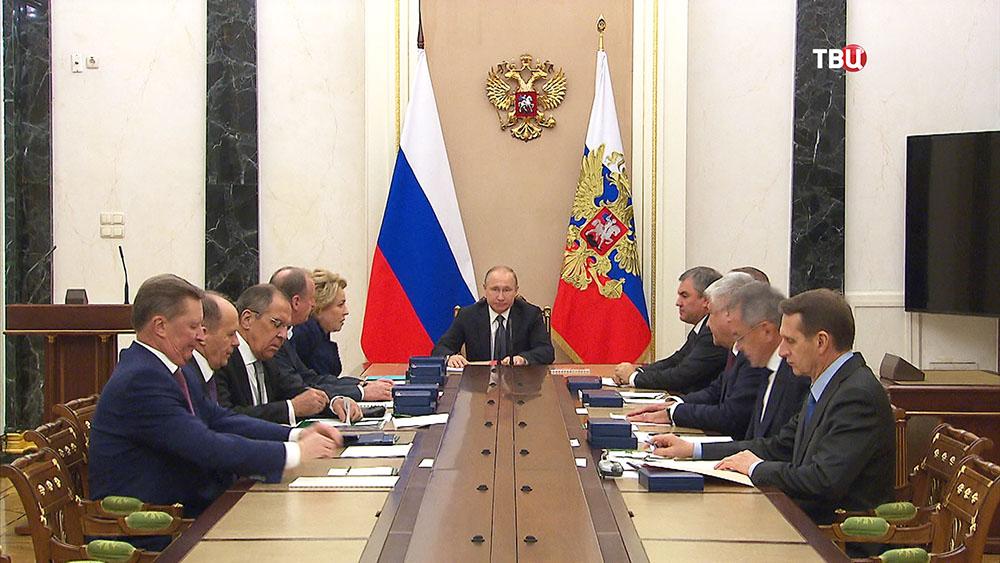 Владимир Путин проводит заседание Совбеза России