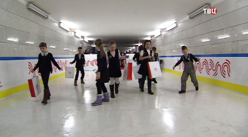 Каток в метро