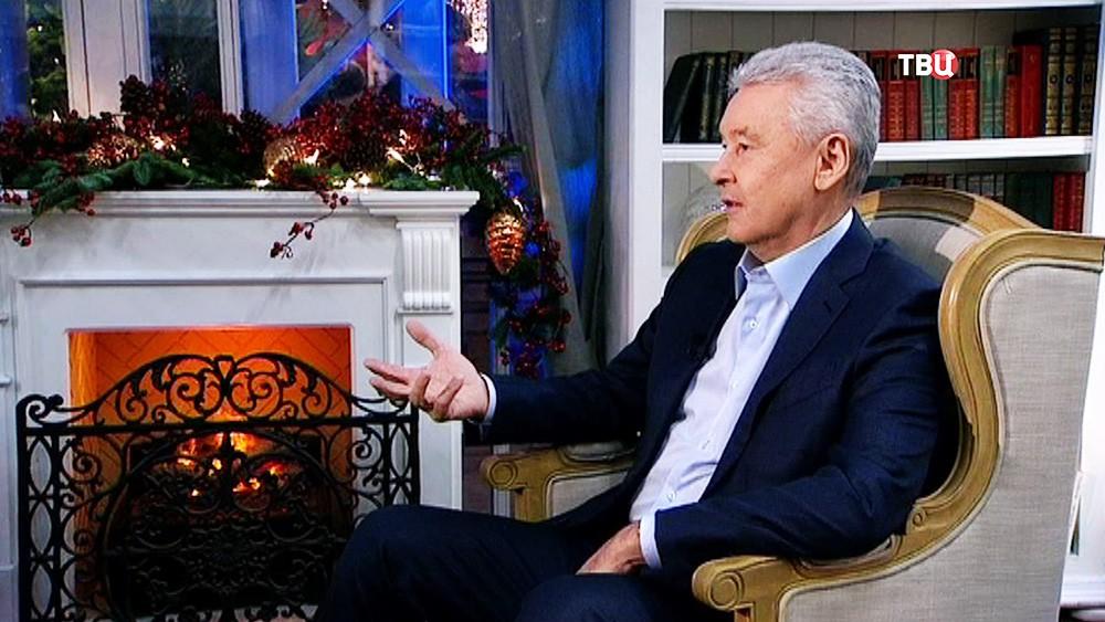 Мэр Москвы Сергей Собянин даёт интервью