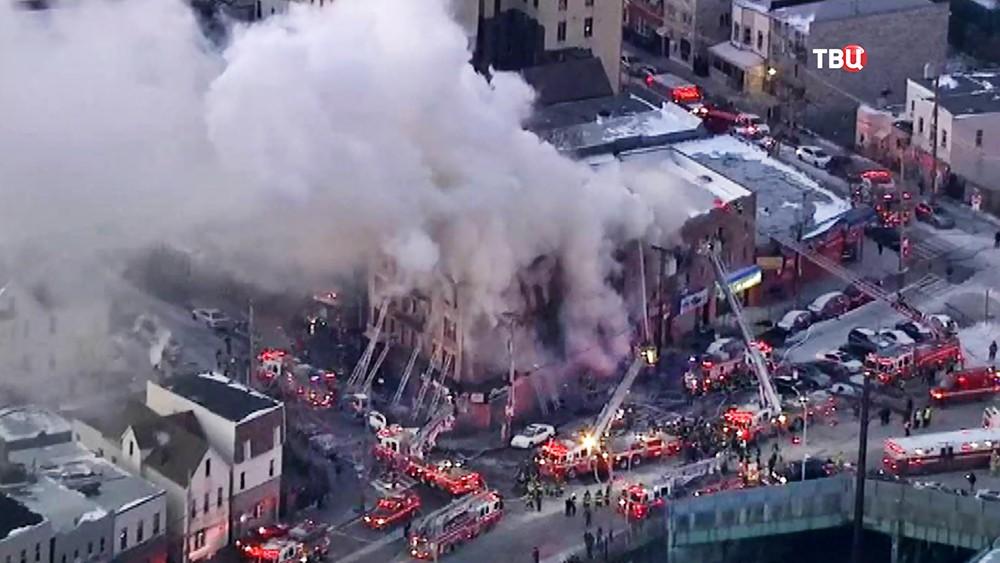 Пожар в жилом доме в США
