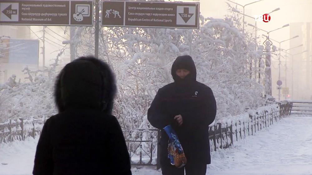 Морозная погода в Якутии