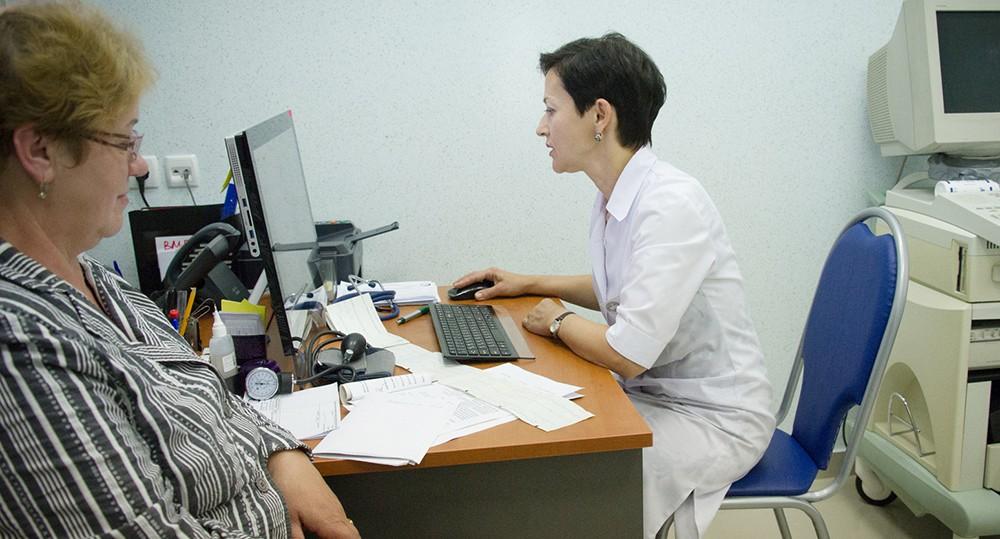 Пациент на приеме в врача